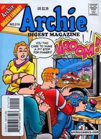 Cover Thumbnail for Archie Comics Digest (Archie, 1973 series) #214 [Direct Edition]
