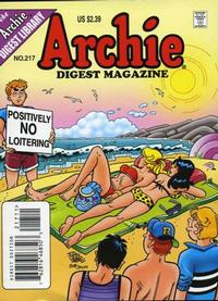 Cover Thumbnail for Archie Comics Digest (Archie, 1973 series) #217