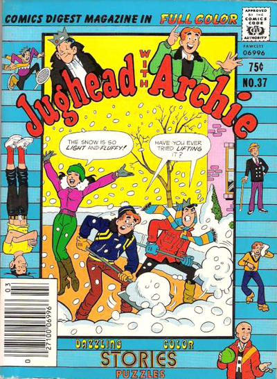 Cover for Jughead with Archie Digest (Archie, 1974 series) #37 [Canadian Price Variant]