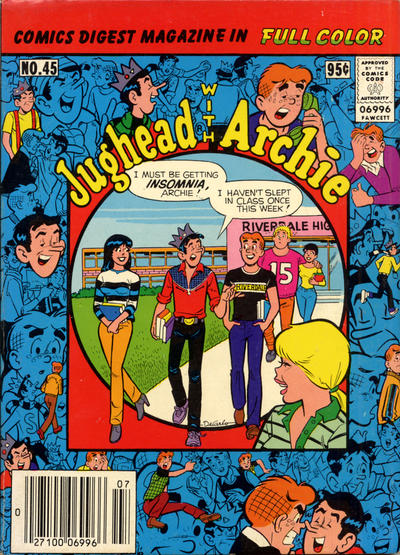 Cover for Jughead with Archie Digest (Archie, 1974 series) #45