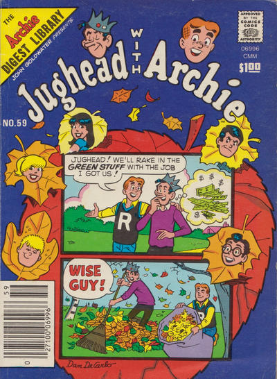 Cover for Jughead with Archie Digest (Archie, 1974 series) #59