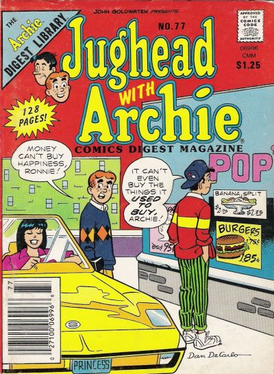 Cover for Jughead with Archie Digest (Archie, 1974 series) #77