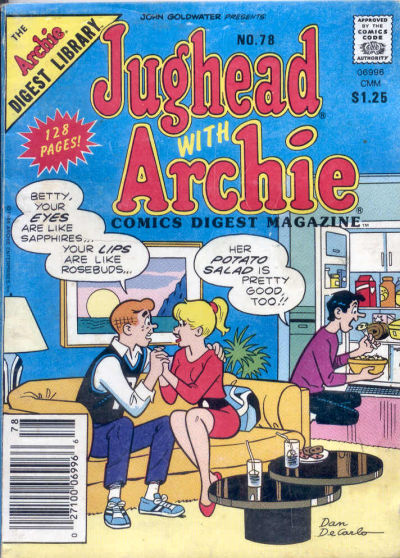 Cover for Jughead with Archie Digest (Archie, 1974 series) #78