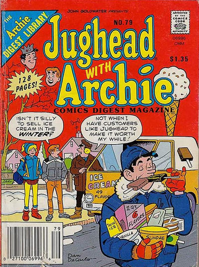 Cover for Jughead with Archie Digest (Archie, 1974 series) #79