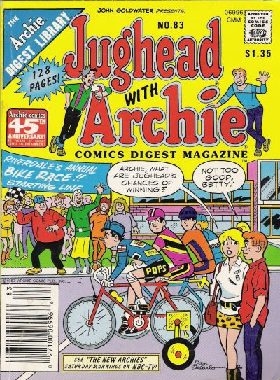 Cover for Jughead with Archie Digest (Archie, 1974 series) #83