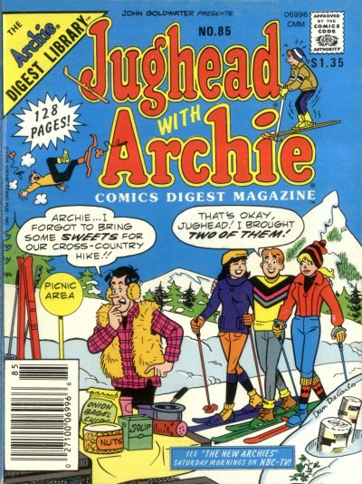 Cover for Jughead with Archie Digest (Archie, 1974 series) #85 [Canadian]