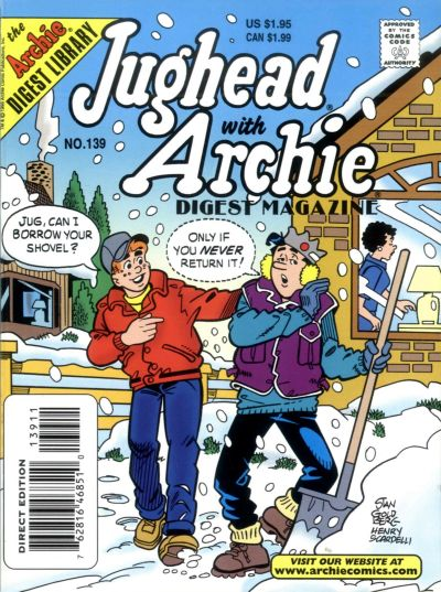 Cover for Jughead with Archie Digest (Archie, 1974 series) #139 [Direct Edition]