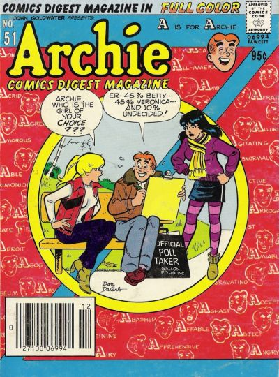 Cover for Archie Comics Digest (Archie, 1973 series) #51