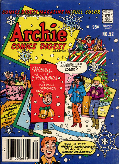 Cover for Archie Comics Digest (Archie, 1973 series) #52