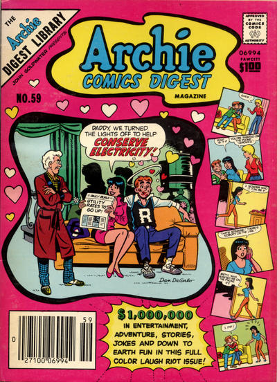 Cover for Archie Comics Digest (Archie, 1973 series) #59