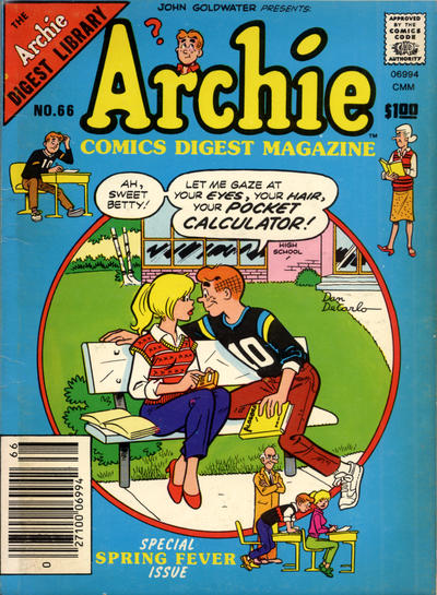 Cover for Archie Comics Digest (Archie, 1973 series) #66