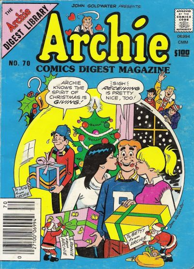 Cover for Archie Comics Digest (Archie, 1973 series) #70
