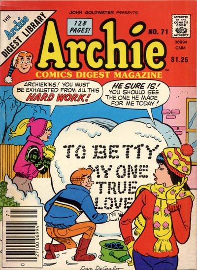Cover for Archie Comics Digest (Archie, 1973 series) #71