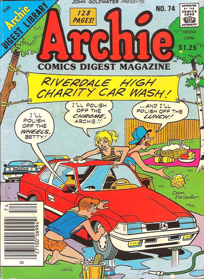 Cover for Archie Comics Digest (Archie, 1973 series) #74