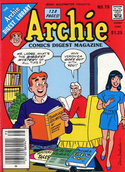 Cover for Archie Comics Digest (Archie, 1973 series) #75