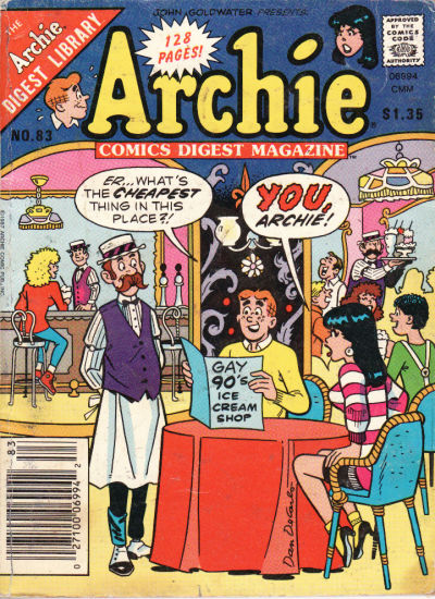 Cover for Archie Comics Digest (Archie, 1973 series) #83