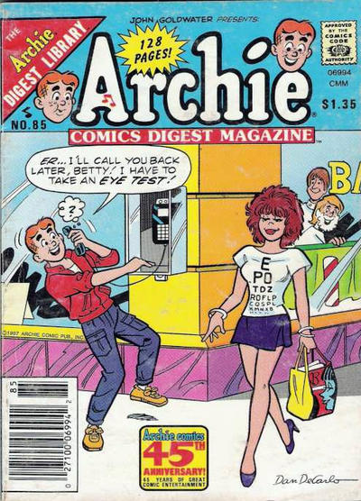 Cover for Archie Comics Digest (Archie, 1973 series) #85
