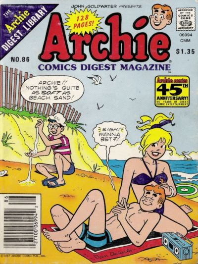Cover for Archie Comics Digest (Archie, 1973 series) #86