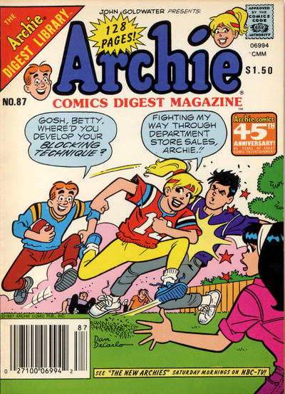 Cover for Archie Comics Digest (Archie, 1973 series) #87