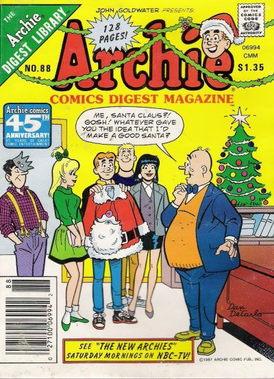 Cover for Archie Comics Digest (Archie, 1973 series) #88