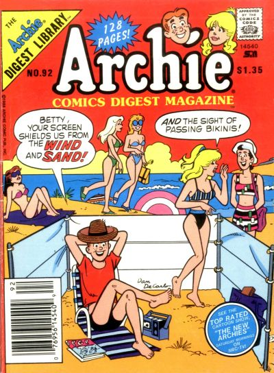Cover for Archie Comics Digest (Archie, 1973 series) #92