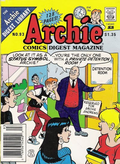 Cover for Archie Comics Digest (Archie, 1973 series) #93