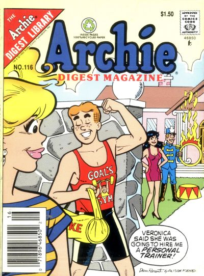 Cover for Archie Comics Digest (Archie, 1973 series) #116