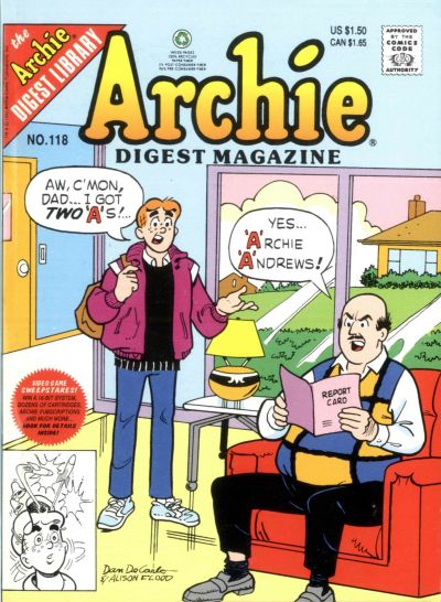 Cover for Archie Comics Digest (Archie, 1973 series) #118