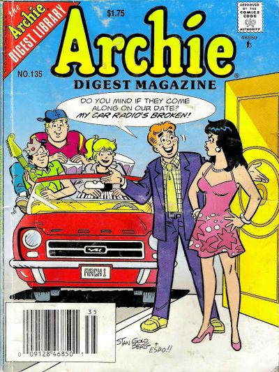 Cover for Archie Comics Digest (Archie, 1973 series) #135