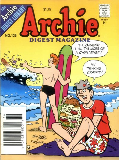 Cover for Archie Comics Digest (Archie, 1973 series) #136