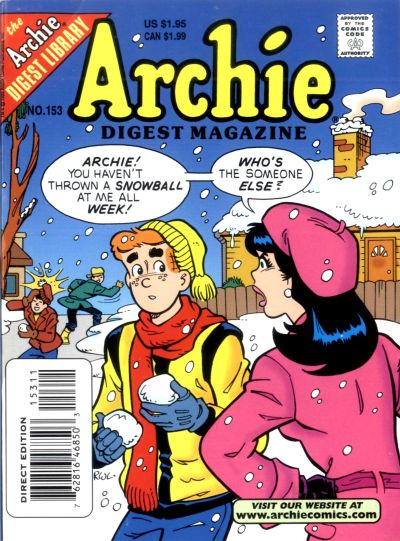 Cover for Archie Comics Digest (Archie, 1973 series) #153