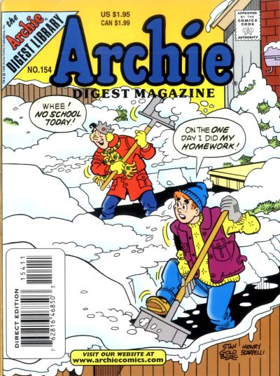 Cover for Archie Comics Digest (Archie, 1973 series) #154