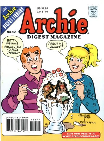 Cover for Archie Comics Digest (Archie, 1973 series) #155