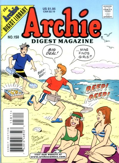 Cover for Archie Comics Digest (Archie, 1973 series) #158