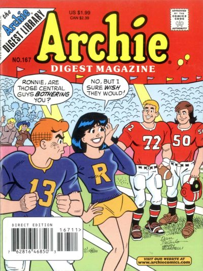 Cover for Archie Comics Digest (Archie, 1973 series) #167