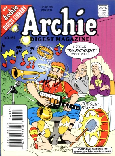 Cover for Archie Comics Digest (Archie, 1973 series) #169