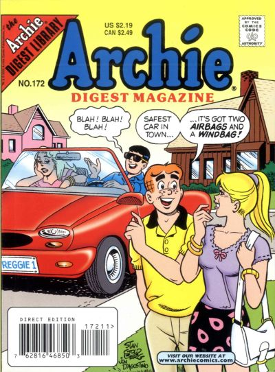 Cover for Archie Comics Digest (Archie, 1973 series) #172