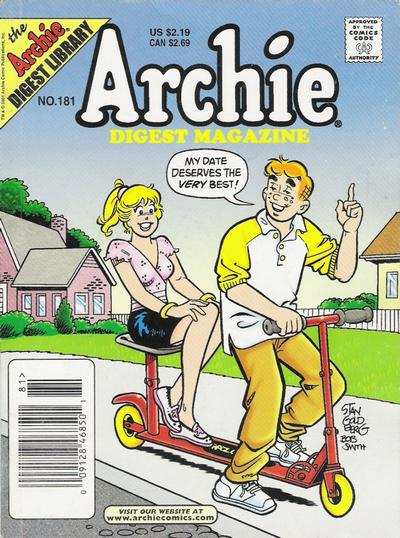Cover for Archie Comics Digest (Archie, 1973 series) #181