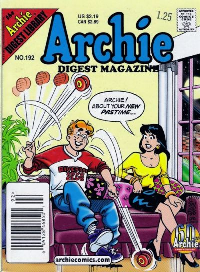 Cover for Archie Comics Digest (Archie, 1973 series) #192