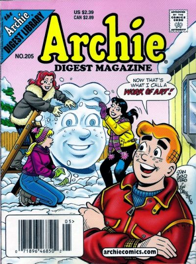 Cover for Archie Comics Digest (Archie, 1973 series) #205