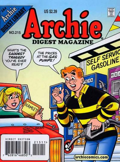 Cover for Archie Comics Digest (Archie, 1973 series) #215 [Direct]