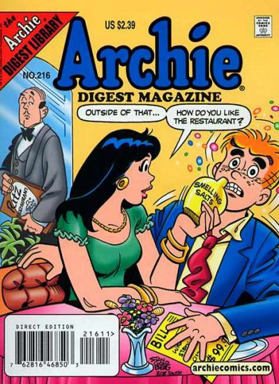Cover for Archie Comics Digest (Archie, 1973 series) #216