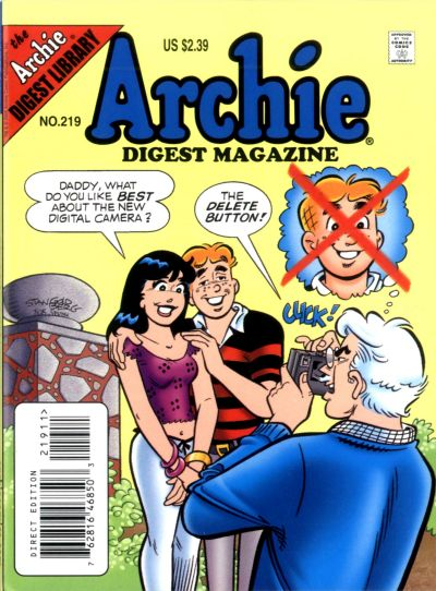 Cover for Archie Comics Digest (Archie, 1973 series) #219