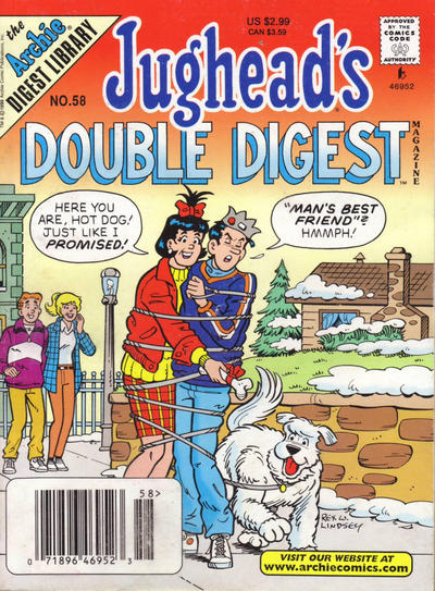 Cover for Jughead's Double Digest (Archie, 1989 series) #58 [Direct Edition]