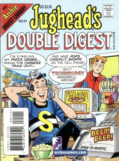 Cover for Jughead's Double Digest (Archie, 1989 series) #91