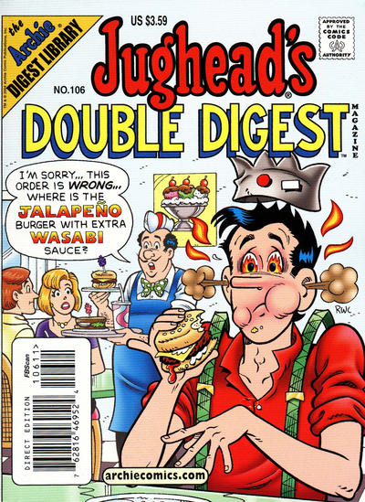 Cover for Jughead's Double Digest (Archie, 1989 series) #106