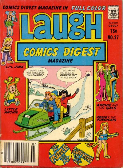 Cover for Laugh Comics Digest (Archie, 1974 series) #27