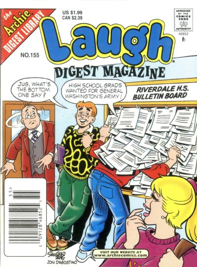 Cover for Laugh Comics Digest (Archie, 1974 series) #155
