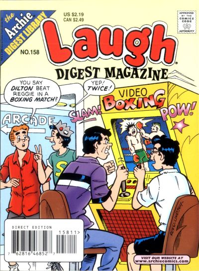 Cover for Laugh Comics Digest (Archie, 1974 series) #158