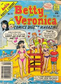 Cover for Betty and Veronica Comics Digest Magazine (Archie, 1983 series) #32 [$1.50 cover price]